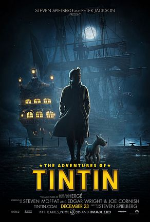 Poster do Filme Tintin e o Segredo de Licorne